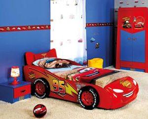 Complete ACTIE kinderkamer Disney CARS - 90 x 200 cm - Blauw / rood