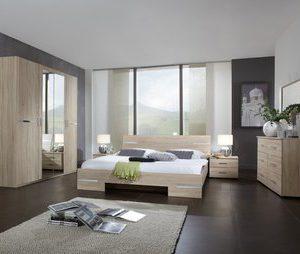 Complete ACTIE slaapkamer Anne - 140 x 190 cm - Ruw eiken