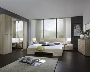 Complete ACTIE slaapkamer Anne Deluxe - 140 x 190 cm - Ruw eiken