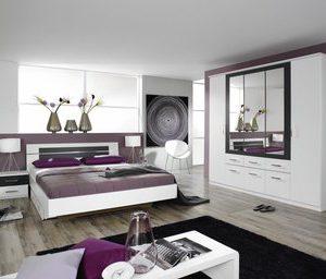 Complete ACTIE slaapkamer Baruno Deluxe - 160 x 200 cm - Alpine wit