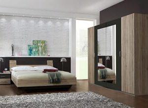Complete ACTIE slaapkamer Jenna - 140 x 200 cm - Sanremo eiken