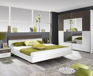 Complete ACTIE slaapkamer Sultan - 160 x 200 cm - Alpine wit met Lavagrijs