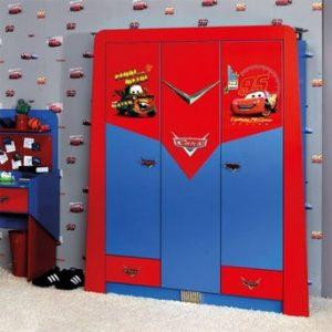 Disney CARS draaideurkast - 113 x 190 x 59 cm (2 deuren) - Blauw / rood