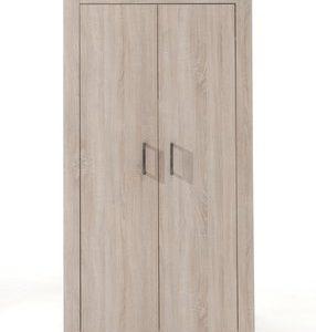 Draaideurkast Alex - 107 x 199,5 x 59,5 cm (2 deuren) - Lichte Eik
