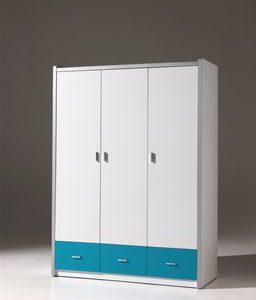 Draaideurkast Ben - 100 x 201 x 58,5 cm (2 deuren) - Wit