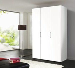 Draaideurkast Bern - 100 x 216 x 58 cm (2 deuren) - Poolwit