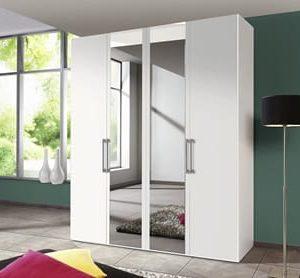 Draaideurkast Bern Plus - 100 x 216 x 58 cm (2 deuren) - Poolwit