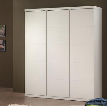 Draaideurkast Lisanne - 110 x 204,5 x 57 cm (2 deuren) - Wit