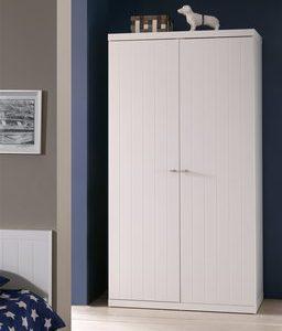 Draaideurkast Remco - 110 x 204,5 x 57 cm (2 deuren) - Wit