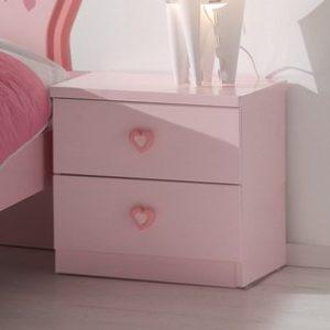 Nachtkast Linda - 47,2 x 40 x 45 cm - Roze