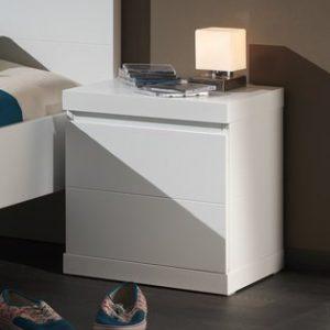 Nachtkastje Lisanne - 44 x 47,5 x 40 cm - Wit