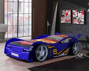 Nachtrijder autobed - 90 x 200 cm - Rood
