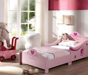 Peuter prinses speelbed - 70 x 140 cm - Roze