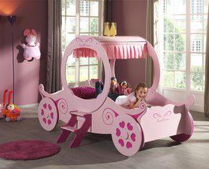 Prinsessenkoets speelbed 201 - 90 x 200 cm - Roze