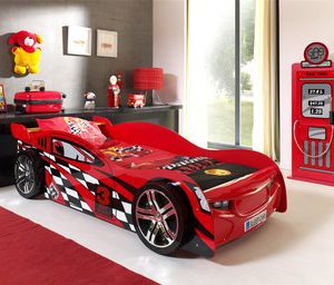 Speed autobed - 90 x 200 cm - Rood