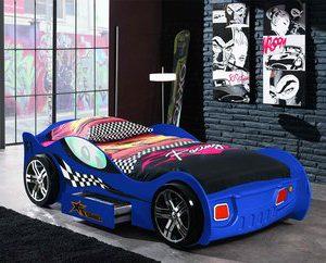 Turbo autobed - 90 x 200 cm - Rood