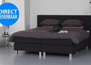 Vlakke boxspring Dream - 120 x 200 cm - Licht grijs