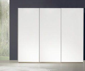 Zweefdeurkast Murcia 1 - Volledig hout - 160 x 197 x 69 cm (2 deuren) - Poolwit