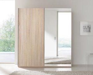 Zweefdeurkast Naomi - 160 x 223 x 69 cm (2 deuren) - Poolwit