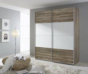 Zweefdeurkast Quadro - 136 x 210 x 62 cm (2 deuren) - Eiken Stirling