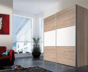 Zweefdeurkast Stan - 150 x 216 x 68 cm - Sonoma eiken