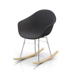 Toou TA UP schommelstoel - Armstoel - ER chroom onderstel -