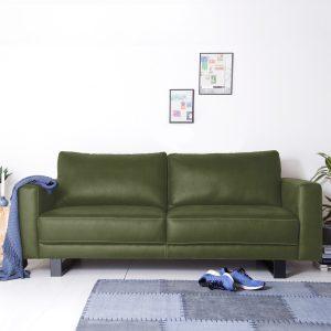 SEVN Bank 'Regina' 4-zits, kleur groen