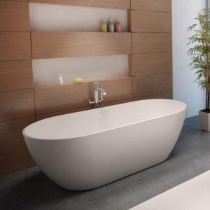 Riho Bilbao vrijstaand bad 150x75cm Solid Surface
