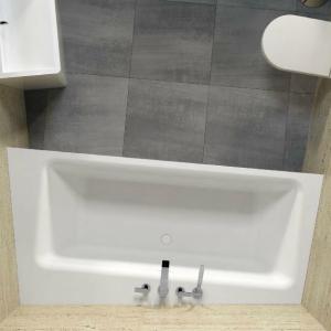 Riho Zamora vrijstaand bad voor nis 220x100cm Solid Surface
