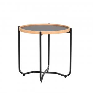 Nordiq Bristol sidetable - Ronde bijzettafel - 50 cm - Scandinavisch design - Afneembaar tafelblad