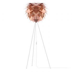 VITA lampen Silvia Koper - Medium ? 45 cm - Vloerlamp - Witte voet