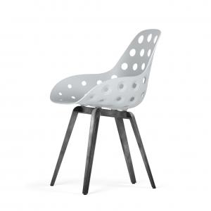 Kubikoff Slice stoel - Dimple Holes - Grijs onderstel -
