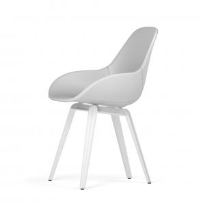 Kubikoff Slice stoel - Dimple POP shell - Ecopelle - Wit onderstel -