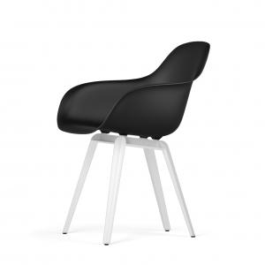 Kubikoff Slice stoel - V9 Armshell - Wit onderstel -