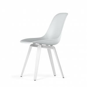 Kubikoff Slice stoel - V9 Side Chair Shell - Wit onderstel -