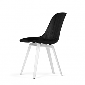 Kubikoff Slice stoel - W9 Side Chair Shell - Wit onderstel -