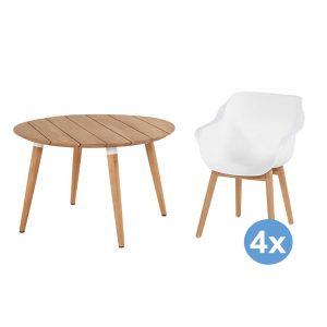 Hartman Sophie Studio tuinset 120 tafel + 4 stoelen (armchair)