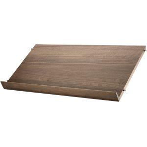 String Tijdschriftenrek hout 78 x 30 cm walnoot