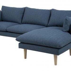 Loungebank 'Isabella' Rechts, kleur petrol