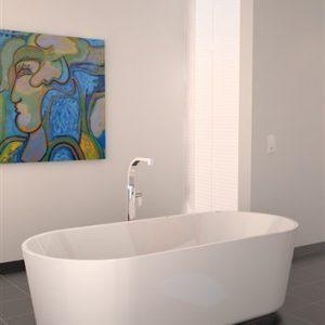 InBe Clou vrijstaand bad 178 x 80 cm wit acryl