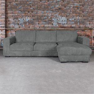 SEVN Loungebank 'Torino' Rechts, kleur antraciet