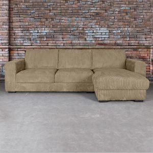 SEVN Loungebank 'Torino' Rechts, kleur bruin