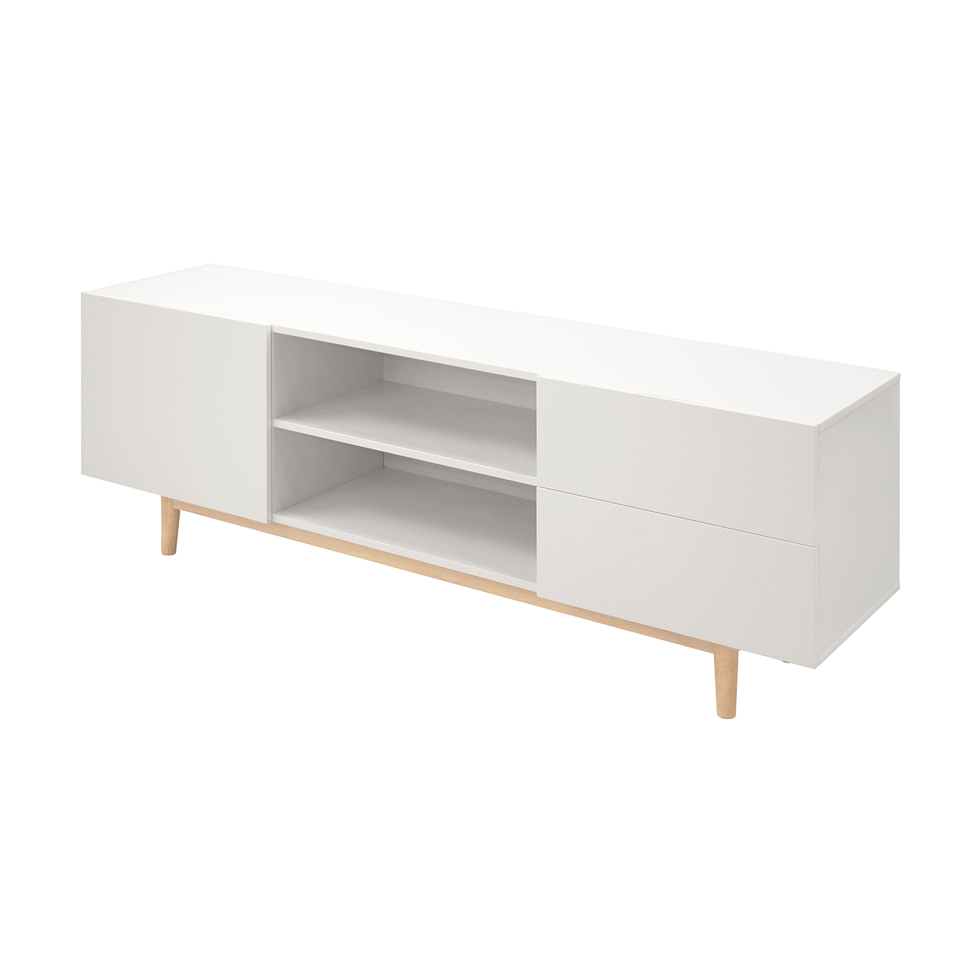 Tv Kast Jasmijn Wit.Lisomme Scandinavisch Tv Meubel Roos 160 Cm Wit