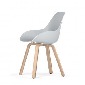 Kubikoff U base stoel - Dimple Closed - Naturel onderstel -