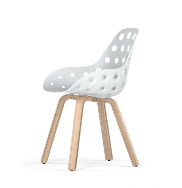 Kubikoff U base stoel - Dimple Holes - Naturel onderstel -