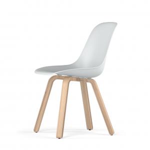 Kubikoff U base stoel - V9 Side Chair Shell - Houten onderstel -