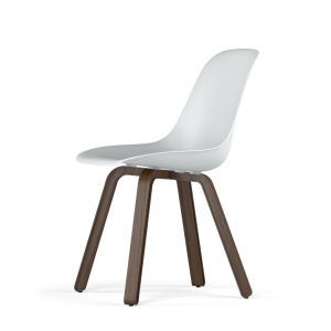 Kubikoff U base stoel - V9 Side Chair Shell - Walnoten onderstel -