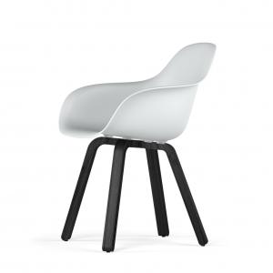 Kubikoff U base stoel - V9 Armshell - Zwart onderstel -