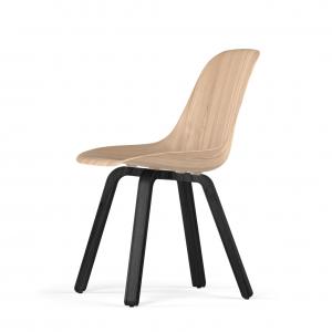 Kubikoff U base stoel - W9 Side Chair Shell - Zwart onderstel -