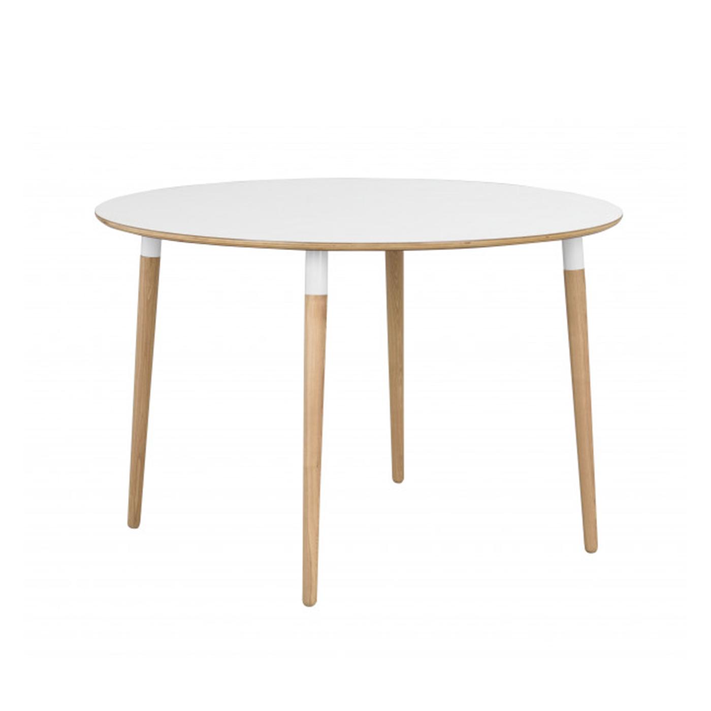 Ronde Eettafel Scandinavisch.Nordiq Fusion Table Ronde Eettafel 115 Cm Eiken Poten